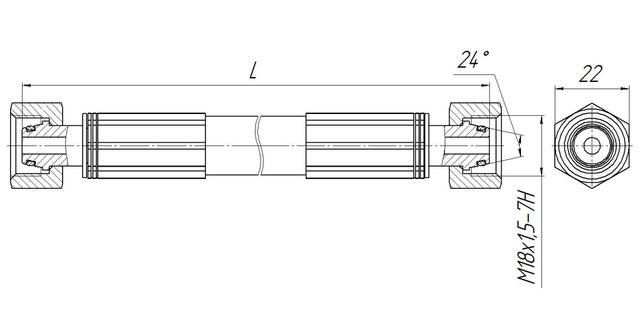 Вставка диэлектрическая в исполнении с ниппелем 24° и уплотнительным кольцом ВДТП-3